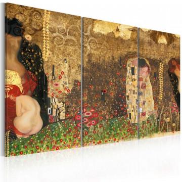 Tablou - Gustav Klimt - inspiration, Triptych