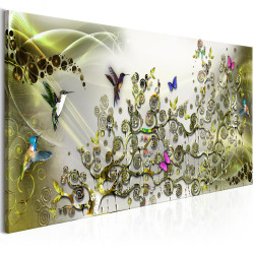 Tablou - Hummingbirds Dance (1 Part) Green Narrow
