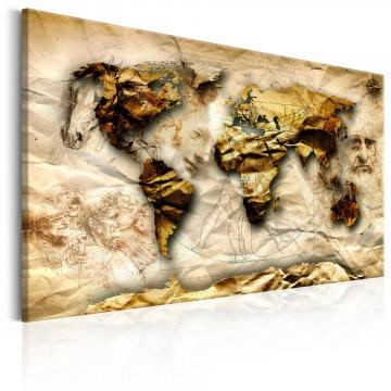 Tablou - Map: Leonardo da Vinci inspiration