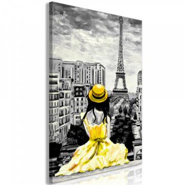 Tablou - Paris Colour (1 Part) Vertical Yellow