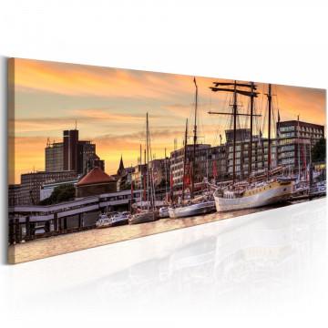 Tablou - Port in Hamburg