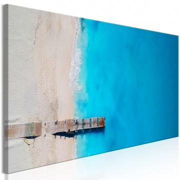 Tablou - Sea and Wooden Bridge (1 Part) Narrow Blue
