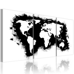 Tablou - The World map in black-and-white