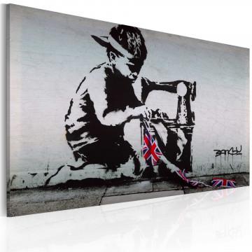 Tablou - Union Jack Kid (Banksy)