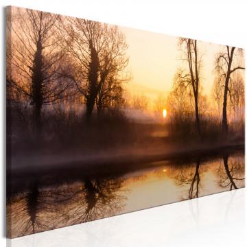 Tablou - Winter Sunset (1 Part) Narrow
