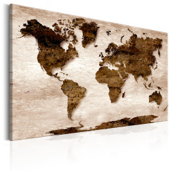 Tablou - World Map: The Brown Earth