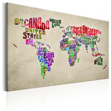 Tablou - World Map: World Tour (EN)