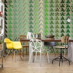 Triangle Pattern Green Photo Wallpaper Wall Mural