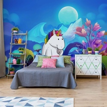 Unicorn Night Photo Wallpaper Wall Mural