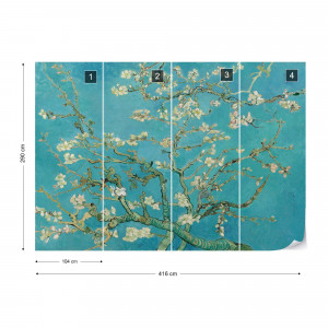 Van Gogh Blossoms in Turquoise