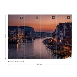 Venice Grand Canal At Sunset Photo Wallpaper Mural