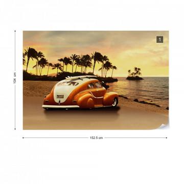Vintage Car Photo Wallpaper Wall Mural