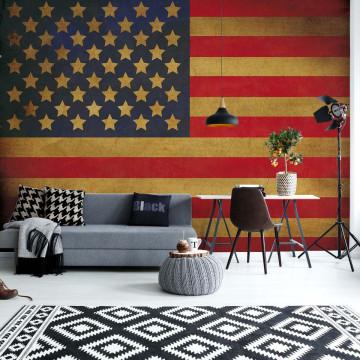 Vintage Flag Usa America Photo Wallpaper Wall Mural