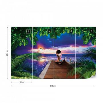 Watching The Sunset Photo Wallpaper Wall Mural