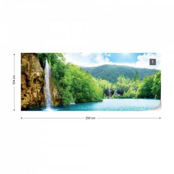 Waterfall Lake Photo Wallpaper Wall Mural