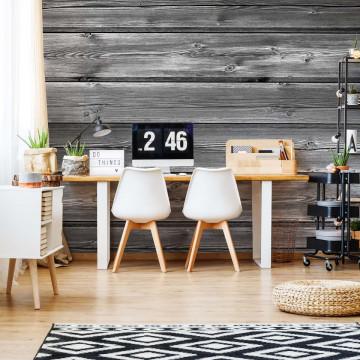Wood Plank Texture Grey Photo Wallpaper Wall Mural