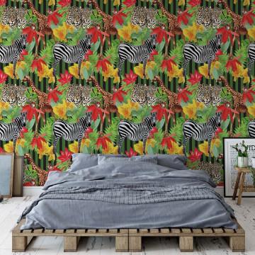 Zebra Pattern Photo Wallpaper Wall Mural