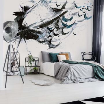 Modern Painting Woman Photo Wallpaper Wall Mural