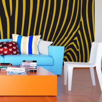 Fototapet - Zebra pattern (yellow)