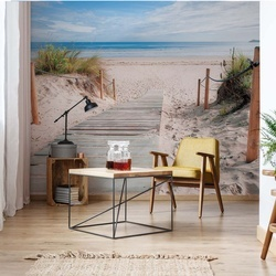 Beach Path Sea Coastal Photo Wallpaper Wall Mural