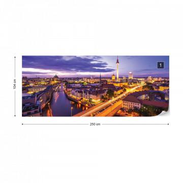 Berlin City Skyline Fernsehturm Photo Wallpaper Wall Mural