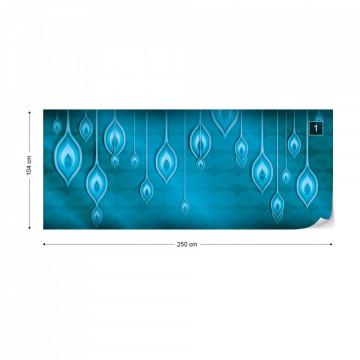 Blue Ethnic Design Photo Wallpaper Wall Mural