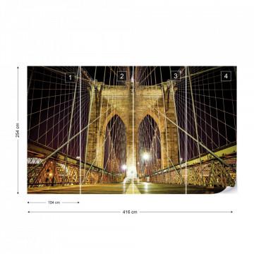 Brooklyn Bridge New York Photo Wallpaper Wall Mural