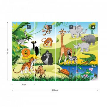 Cartoon Animals Photo Wallpaper Wall Mural