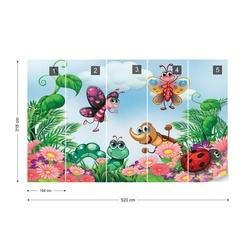 Cartoon Bugs Photo Wallpaper Wall Mural