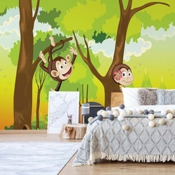 Cartoon Monkeys Photo Wallpaper Wall Mural