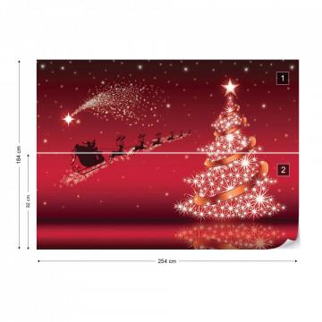 Christmas Santa Claus Photo Wallpaper Wall Mural