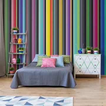 Colourful Stripe Pattern Photo Wallpaper Wall Mural