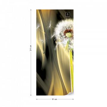 Dandelion Abstract Design Photo Wallpaper Wall Mural