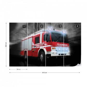 Fire Truck Photo Wallpaper Wall Mural