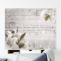 Floral Vintage, Vintage, & Retro Canvas Photo Print