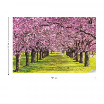Flowering Trees Photo Wallpaper Wall Mural
