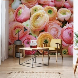 Flowers Peonies Photo Wallpaper Wall Mural