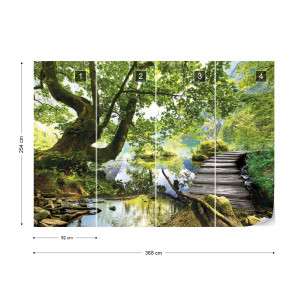 Forest Lake Path Photo Wallpaper Wall Mural