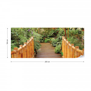 Forest Nature Path Bamboo Photo Wallpaper Wall Mural