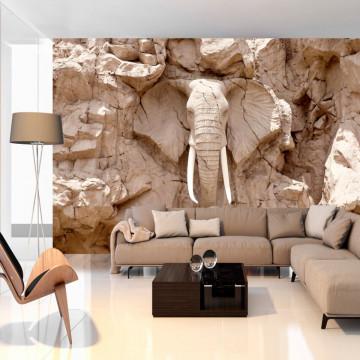 Fototapet autoadeziv - Elephant Carving (South Africa)