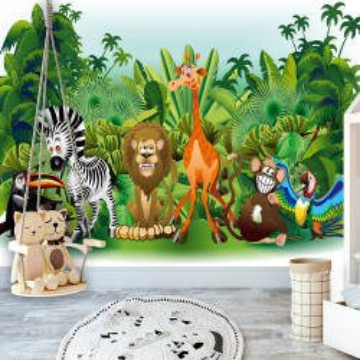 Fototapet autoadeziv - Jungle Animals