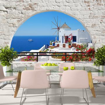 Fototapet autoadeziv - Summer in Santorini