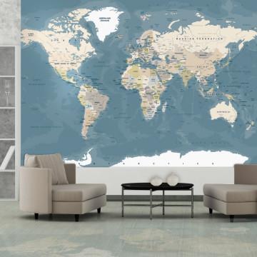 Fototapet autoadeziv - Vintage World Map