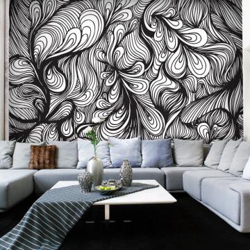 Fototapet - Black and white retro style