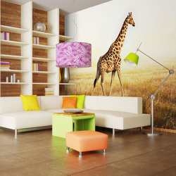 Fototapet - giraffe - walk