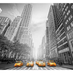 Fototapet - New York - yellow taxis