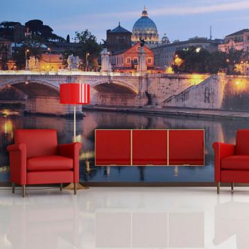 Fototapet - Night view of Rome, Italy