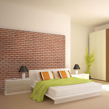Fototapet - Orange brick wall