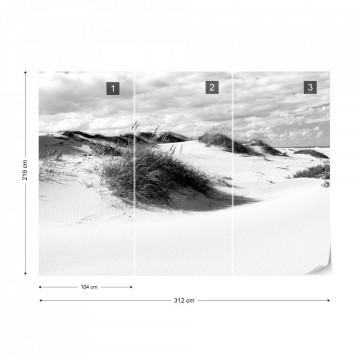 Fototapet - Peisaj cu Dune de Nisip – Alb-Negru