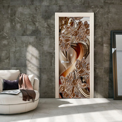 Fototapet pentru ușă - Photo wallpaper – Abstraction and flowers I